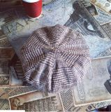 Осенью и зимой теплый Англии Клетчатую ретро повседневный береты Red Hat