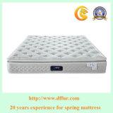 小型のスプリング入りマットレスの真空のホテルの家具のための圧縮された乳液のプラシ天の枕上のマットレス