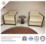 Meubles simples de salle de séjour d'hôtel avec le fauteuil en bois (YB-D-7)