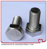 Stainless Hex Stahlkopf  Schraube DIN933 ANSI-volles Gewinde M18X35 zu M18X200