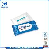 Adhesivo impermeable extraíble las toallitas húmedas etiqueta etiqueta