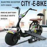2の電気スクーター都市ココヤシのオートバイは電池を除去する