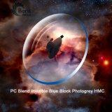 1.591 PC 혼합 보이지 않는 파란 구획 Photogrey Hmc 광학 렌즈