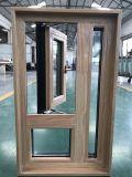 Bois solide de Woodwin et double guichet en verre en aluminium d'oscillation de tissu pour rideaux