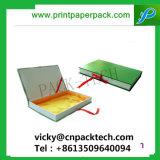 Spitzenoffsetdruckpapier-Kasten-faltbare Pappsteifer Papierverpackengeschenk-Kasten mit Silk Farbband