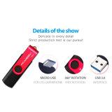 Vrij pas Aandrijving 3.0 van de Flits USB van de Wartel OTG van het Embleem de Stok van het Geheugen van de Kleuren van de Manier aan
