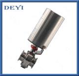 Клапан-бабочка Triclamp пневматического привода нержавеющей стали