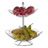 Cestino di frutta da tavolo di Kd delle file del metallo 2
