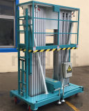 Tipo tabela do mastro da plataforma do levantamento hidráulico de levantamento de alumínio de alumínio do elevador Gtwy6/8/9/10/12 M-200s da liga