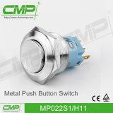 interruptor de tecla do metal de 22mm