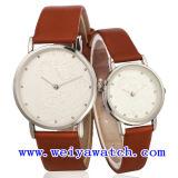 승진 남녀 공통을%s 가진 가죽 형식 시계 시계 (WY-1074GD)