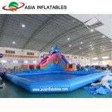 Parque inflable del agua, parque de atracciones inflable, juegos inflables del agua del proyecto