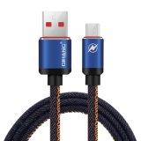 cable rápido del USB del micr3ofono del enchufe de cuero del metal 2.4A y cable de la sinc. de los datos para el móvil de Andriod