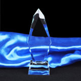 Concesión del trofeo del vidrio cristalino de la llama con la cola bifurcada amarilla