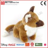 Felpa suave del juguete del animal relleno que sienta el Fox para los cabritos/el regalo de los niños
