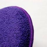 Toalha redonda da esponja da limpeza do carro, lustrando e encerando a toalha