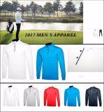 Le vêtement de golf des hommes en gros d'habillement folâtre chemise de chemise de polo la longue