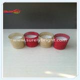 Commercio all'ingrosso di vetro della candela del vaso con scintillio di stampa
