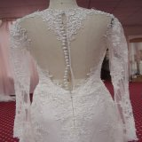 Платье венчания страны сада пляжа платья длинних втулок Bridal