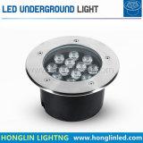 정원 가벼운 LED 지면 빛 12W 옥외 지하  램프