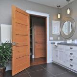 Portes simples en bois solide de plaine d'oscillation de modèle simple pour la chambre à coucher
