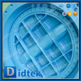Valvola a farfalla eccentrica dell'asta cilindrica di Didtek di vite senza fine di triplo di un pezzo dell'attrezzo