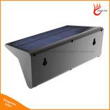 Lumières extérieures solaires de mur d'éclairage de la lampe 46 DEL 800lm de garantie