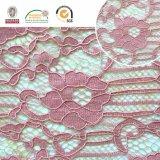 Tela del cordón del bordado, modelo floral, manera y hermoso para señora africana y suiza Dress Ln10073
