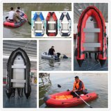 China Aluminum Inflatable rigid Rubber Fishing rubbed Boat with speed engine
