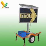 Remorque solaire de VMs d'Afficheur LED de prix usine pour des poteaux de signalisation