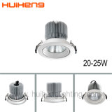 110mm Cutout를 가진 조정가능한 Round Recessed Dimmable 20W LED Downlight