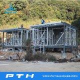 Villa prefabbricata d'acciaio chiara di lusso prefabbricata usata come villa di qualità superiore del ricorso