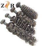 自然なカラー毛の加工されていないインドのバージンのRemyの人間の毛髪のよこ糸