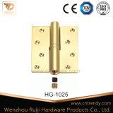 Latón pulido extraíble con bisagras de puerta vuelta de la esquina (HG-1023)