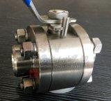 Geschmiedetes Kugelventil Edelstahl-manuelles Kolben-Schweißenbw-3PC