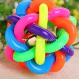 Esfera plástica do arco-íris barato do cão de animal de estimação de China