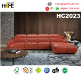 Софа Brown Grnuine мебели высокого качества самомоднейшая кожаный угловойая (HC3006)