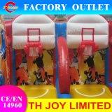 4*3m Panier de basketball extérieur gonflable Double cerceaux de basket-ball des Jeux de Basket-ball gonflable Shoot