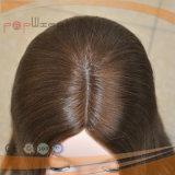 Hoogste Pruik van de Zijde van de Kleur van het menselijke Haar de Donkere (pPG-l-0431)