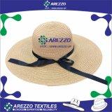 El papel de la mujer Playa sombrero de paja (AZ017B)