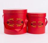 Rectángulo redondo de la flor/tubos de empaquetado del papel/rectángulo de regalo redondo del tubo