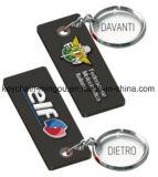 로고를 가진 주문을 받아서 만들어진 모양 형식 새로운 디자인 PVC Keychain