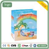 Bolsa de papel del regalo del juguete de la ropa del mar del coco de la playa del cumpleaños