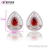 90437 última moda elegante Luxo Heart-Shaped Cristal Prateado jóias brinco de casamento