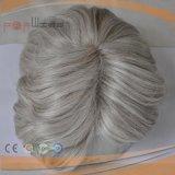 레이스 정면 가득 차있는 회색 머리 남자 Toupee (PPG-l-0891)