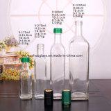 250ml-750ml de vierkante Reeks van de Fles van het Glas voor Olijfolie met Plastic Deksels