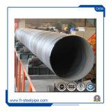 Soldada de acero recubierto de PE de carbono de pared doble tubo tubo espiral de soldado en el tubo de acero S235