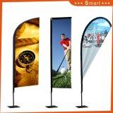 Intera bandiera di pubblicità su ordinazione poco costosa della bandierina di spiaggia della piuma di volo