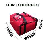 """saco impermeável da pizza do logotipo da polegada 14 """" - 16 """" com o indicador transparente do interior da etiqueta"""