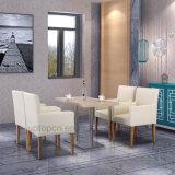 Hotel-Gaststätte-Möbel-lederner speisender Stuhl und Tisch eingestellt (SP-HC620)
